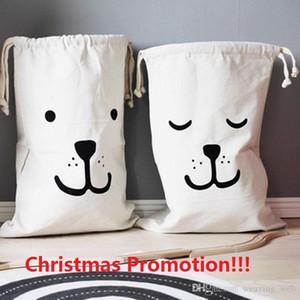 Noel Promosyonu !!! Ins Sıcak Tuval Saklama torbaları için Sevimli Hayvan Yüz Batman Saklama Torbaları Giyim Bebek Çocuk Analık