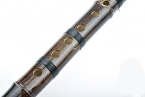Flûte chinoise Xiao Tuyau de bambou Instrument de musique professionnel à vent sculpté flûte de dragon ligne de nylon cravate Shichiku Convient aux débutants