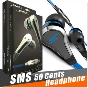 Moda SMS Audio 50 centavos en la oreja los auriculares Mini de 50 centavos con la calle botón auricular del mic y mudo de 50 Cent EARBUD 3 colores MQ100