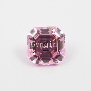 200 unids / lote envío gratis zirconia cúbica rosa asscher cortó piedras preciosas sueltas