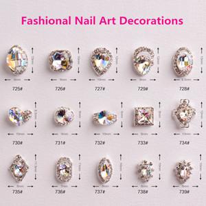 Atacado New Hot Sale 100 pçs / saco de Cristal Nail Art Strass Jóias Decorações de Unhas para Unhas DIY
