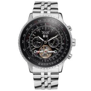 Relojes mecánicos automáticos hombres de lujo automático TOURBILLON reloj inoxidable mecánico deporte mens relojes JARAGAR Relojes venta al por mayor