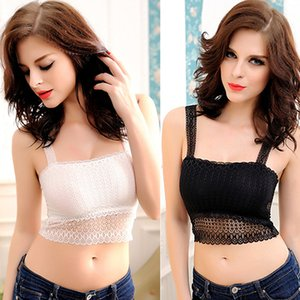 Wholesale-Hot Sale Women Lace Butterfly Crop Top Vest Camisole Tank Anti-Wardrobe Malfunction 5QQ2 7FZH
