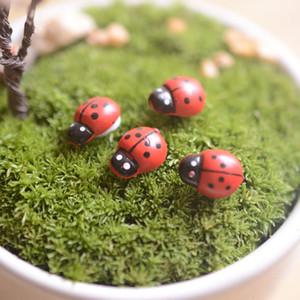Artificial mini dama bichos insectos beatle hadas miniaturas jardín musgo terrario decoración resina artesanía bonsai decoración del hogar