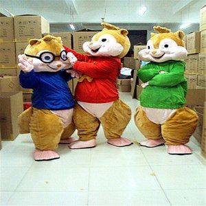 2014 Sıcak Satış! Yeni Alvin ve Sincaplar Maskot Kostüm Alvin Maskot Kostüm Ücretsiz Kargo