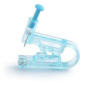 Комплект для прокалывания ушей Безопасный стерильный пистолет для пирсинга + шпилька из нержавеющей стали + подушка для алкоголя