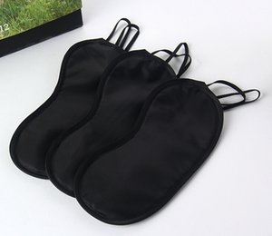 Soft Eye Mask Shade Nap Cover Blindfold Sleeping Travel Rest Regalo di Natale DHL gratuito