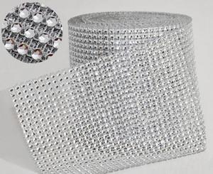 """10 yard / rolle 4,75 """"24 Reihen künstliche Diamant Mesh meter wrap Strass Band Kristall trim Wrap sparkle bling band Hochzeitsdekoration WT029"""