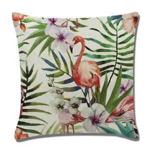 Almofada New Design Flamingo fronha Praça Linho Fronhas presente de Natal da tampa Sofá decorativas Casos decoração Almofadas Covers