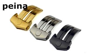 18 milímetros 20 milímetros de aço inoxidável NOVA prata Black Gold Watch Band Buckle implantação fecho Para TAG Heuer watchbands