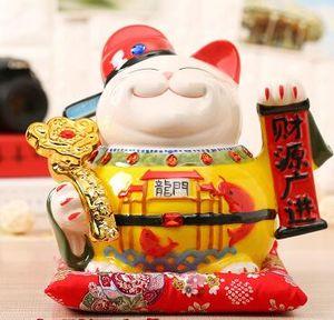 Lucky Cat Japanese TheJapaneseLucky Kyrgyzstan in ceramica dorata Lucky Cat ornamenti grande salvadanaio giapponese Fortune Cat
