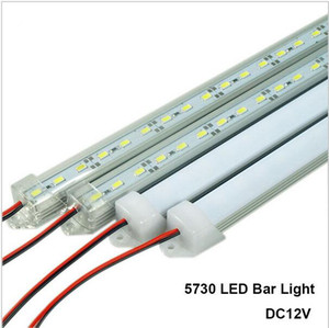 Luces de barra LED DC12V 5730 Tubo LED de tira rígida LED con carcasa de aluminio U + cubierta de PC Blanco Blanco cálido Blanco frío