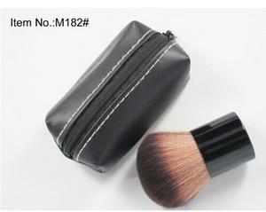 Kostenloser Versand! 2018 heiße Neu kommen Make-up Professionelle 182 Rouge make-up pinsel kabuki Rouge Pinsel + leder Tasche (1 Teile / los)