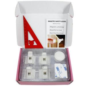 Fechaduras magnéticas do armário da segurança - nenhumas ferramentas ou parafusos necessários Fechamentos adesivas invisíveis do sistema das crianças do cuidado de segurança do bebê das crianças gaveta do armário