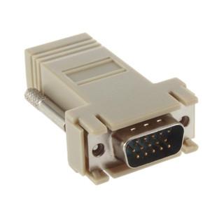 Ağ Kablosu Adaptörü VGA D-SUB DB9 Genişletici Erkek LAN CAT5 CAT5e CAT6 RJ45 Kadın