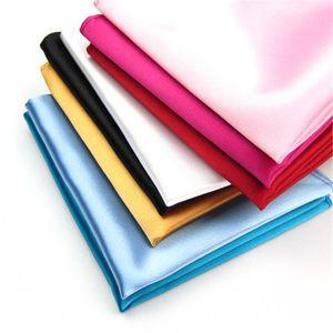 Handkerchef in seta Mens Multi Color Fazzoletto Party Shipping Suit Boutonniere GRATIS Solido Colori Square Polyester Pocket Wedding FMQQL