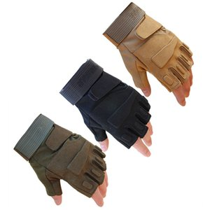 3 Color Fingerless Outdoor Military Airsoft Hunting Paintball Cycling Army Tactical Gloves, bicycle antiskid fitness sports Glove