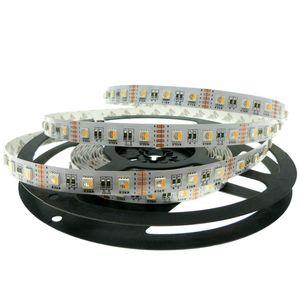 24V / 12V RGBW LED Strip 5050 مرنة LED ضوء RGW / RGBWW 4 لون في 1 رقاقة LED 60 LED / م 5m / lot.