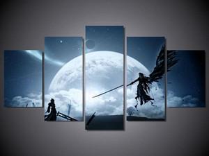 "60 ""x 32"" Cloud Vs Sephiroth Final Fantasy Xv Póster de juego arte Illustrated Giclee Prints Home Decor (Sin marco)"