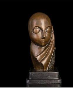 Art Crafts Copper ATLIE BRONZI Nouveau art handmade bronzo astratto statue cast lucidatura Mademoiselle Pogany busto scultura