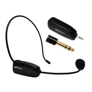 Freeshipping 2.4G Sans Fil Microphone Discours Super anti-sifflet Casque Mégaphone Radio Mic Pour Haut-Parleur Enseignement Réunion Guide Touristique