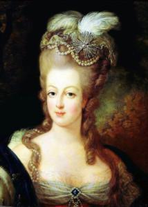 Enmarcado María Antonieta, 100% pintado a mano Royal Classical Portrait Art pintura al óleo sobre lienzo grueso de alta calidad para decoración de pared en tamaño múltiple