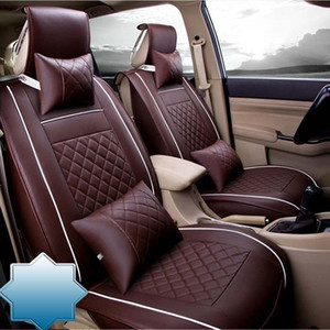 Auto Car Seat Cover full sets Universal Fit 5 seat SUV sedans front back seat mats automotive interior imitation leather
