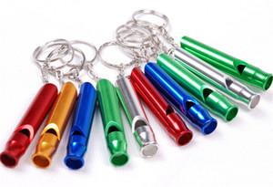 Alumínio Survival Emergency Whistle Keychain para Camping Caminhadas ao ar livre Desporto de EDC Ferramentas de Formação multifuncional apito SC017