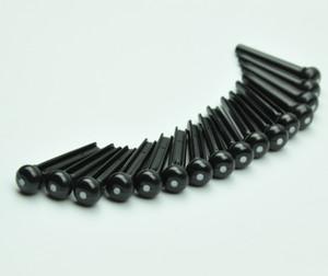 50pcs perni per chitarra acustica universale in plastica nera