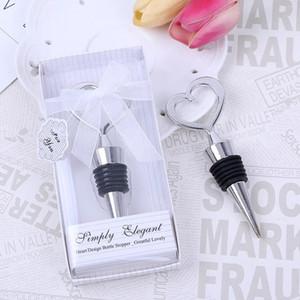 결혼 선물 손님 기념품, 이벤트 파티 공급 아연 합금 심장 모양의 와인 병 마개 도매 50pcs