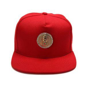 Hip Hop Jesus Boné de Beisebol Azul Vermelho Preto Snapback para Homens Algodão Casuais Ajustável Mens Unisex Algodão Chapéus