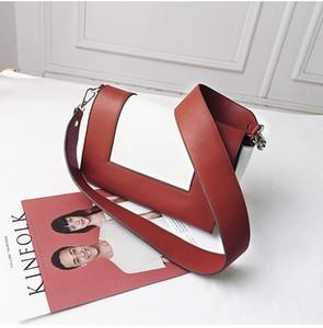 Hochwertige Designer Umhängetasche Handtaschen-Frauen PU breiten Schulterriemen-Beutel-Frauen-Schulter-Kurier-Beutel-Tageskupplungs-Geldbeutel-Taschen