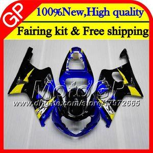 BODYS SUZUKI GSXR 용 1000 CC K2 GSX-R1000 00 02 28GP11 GSXR1000 00 01 02 GSXR-1000 블루 블랙 GSX R1000 2000 2001 2002 오토바이 페어링
