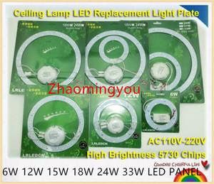 6W 12W 15W 18W 24W 33W LED PANNEAU Cercle Annulaire 220 V SMD 5730 LED Round Panneau de plafond de la pension de la lampe circulaire pour les salles
