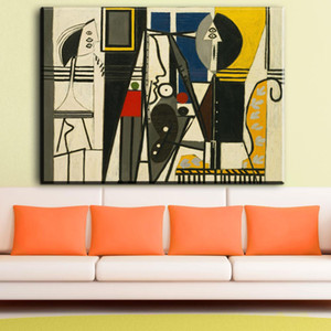 ZZ867 abstrato arte lona decorativa pablo picasso pintor e modelo de fotos pintura a óleo da arte para sala de estar quarto arte