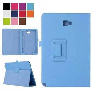 Lichia Folio Stand PU Couro Caso Capa para Samsung Galaxy Tab A 10.1 P580 P585 com S Pen Não T580 T585 + Transparente Protetor de Tela