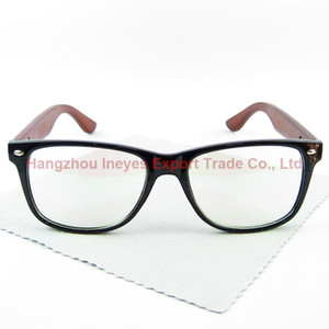 Classic Style Wood Vintage Glasses Frame Geek Eyewear PC Frame Wooden Legs Hand Made 4 Colors