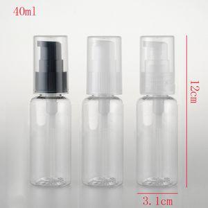 50 stücke, 40 ml Reise Größe Leere Hand Sanitizer Flasche Nachfüllbare Mini Parfüm Flasche Kunststoff Pumpe Shampoo Probe Kleine Flasche