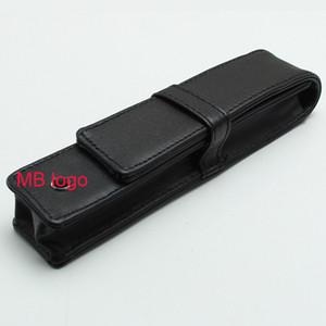 Luxus hohe gute Qualität MBT Stift Beutel für Kugelschreiber / Füllfederhalter Tasche Kunstleder brandneue schwarze Federtasche Geschenk