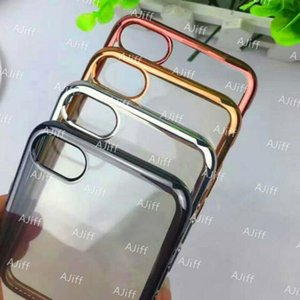 Plating Cases Gilded Ultra Thin Silicone Electroplate TPU Case For iPhone 7 Plus Samsung Galaxy S7 S6 edge Note 7 LG G5 100Pcs