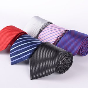 Stripe neck tie 145*8cm 36 Colors Occupational jacquard necktie Arrow NeckTie for Father's Day Men's business tie Christmas Gift Free TNT