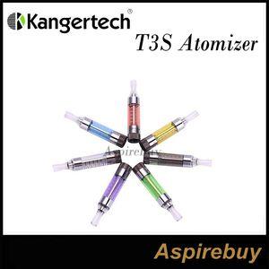 100% atualização Original Kanger T3S Atomizador T3 Tanque Clearomizer T3S Cartomizer Kangertech Com mutável Bobina Kanger T3S Atomizer Kit