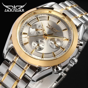 Hot Sale Jaragar Watches Men Automtic Mechanical Watch Stainless Steel Men's Business Wristwatches Relogio Releges Wholesale + box