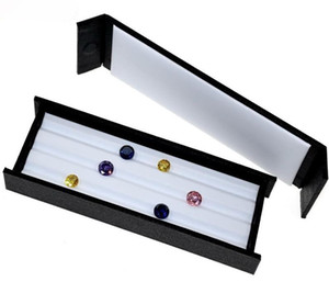 Diamond Display Tray Stone Caja de almacenamiento Gem Box Jewelry Holder Gemstone Organize