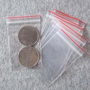 1000 pçs / lote Mini Sacos De Plástico Ziplock Seal Poliéster Transparente Embalagem Pacotes de Embalagem 40X60mm Sacos De Supermercado Papelaria