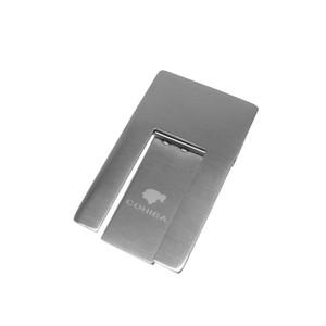 prezzo di alta qualità buona in acciaio inossidabile basamento pieghevole Visualizzazione portatile Cigar Ashtray COHIBA pratico gadget d'argento di colore