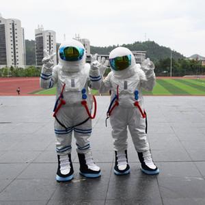 2016 Vente Chaude! Costume de mascotte de costume d'espace de haute qualité Costume de mascotte d'astronaute avec sac à dos avec gant de logo, chaussures