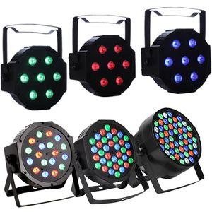 18 LED Par Lichter für Bühnenbeleuchtung mit RGB Magic Effect von DMX512 Steuerung DJ Club Hochzeit Familie Party Disco