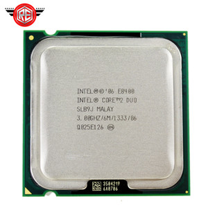 Processeur Intel Core 2 Duo E8400 à double cœur 3,0 GHz FSB 1333 MHz Socket 775 CPU SLB9J