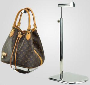 5 unids Envío gratis grande base de acero inoxidable de metal de las mujeres bolsa de soporte del estante de exhibición Corbata / peluca / monedero / bolso soporte del soporte de exhibición